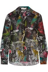 Matthew Williamson Monkey Madness Printed Silk Chiffon Shirt Multi