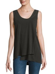 Wilt Mock Layered Tank Top Distressed Black