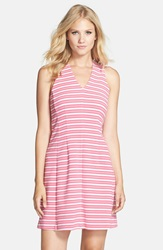 Lilly Pulitzer 'Briana' Stretch Knit Fit And Flare Dress Capri Pink Stripe