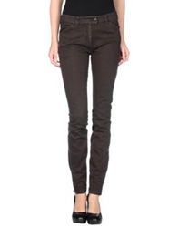 Balenciaga Denim Pants Dark Brown