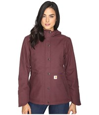 Carhartt Full Swing Cryder Jacket Deep Wine Women's Coat Burgundy