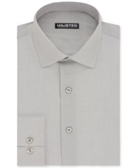 Unlisted By Kenneth Cole Men's Slim Fit Chambray Dress Shirt Ice Grey