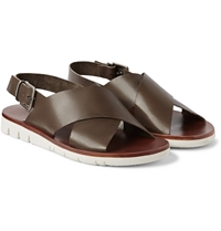 Armando Cabral Wide Strap Leather Sandals