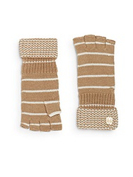 Vince Camuto Thermal Striped Gloves Camel