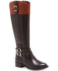 Inc International Concepts Frankii Riding Boots Created For Macy's Women's Shoes Black Cognac