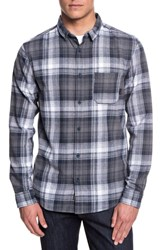 Quiksilver Fatherfly Plaid Shirt Blue Night Fatherfly Check