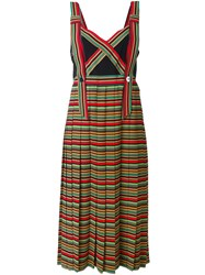 Marco De Vincenzo Striped Pinafore Dress Multicolour