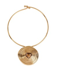 Robert Lee Morris Soho Faceted Stone Spiral Pendant Choker Necklace Gold