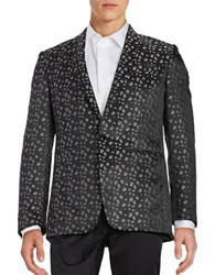 Tallia Orange Single Button Fashion Jacket Black Silver