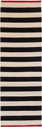 Nani Marquina Melange Stripes 2 Runner Black
