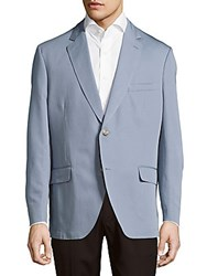 Kroon Taylor Solid Cotton And Linen Sportcoat Blue
