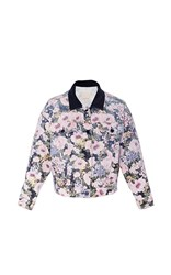 Rebecca Taylor Lavinia Rose Denim Jacket Floral