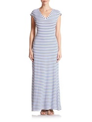 Csbla Rimini Striped Maxi Dress Navy White