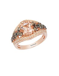 Le Vian 14K Strawberry Gold Peach Morganite And Diamond Ring Morganite Rose Gold