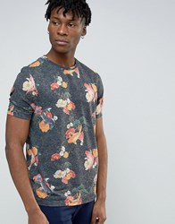 Asos T Shirt With Fish All Over Print In Navy Navy