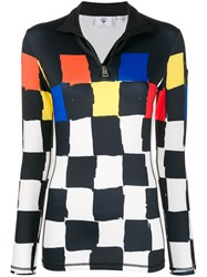Rossignol Zipped Funnel Neck Checkered Top 60