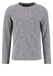 Tom Tailor Denim Basic Fit Long Sleeved Top Coal Mine Grey Mottled Grey