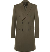 Hardy Amies Double Breasted Cashmere Coat Green