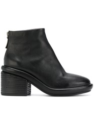 Marsell Chunky Sole Ankle Boots Women Leather Rubber 37 Black