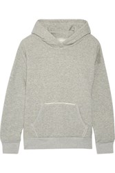 Simon Miller Boise French Cotton Terry Hooded Top Gray