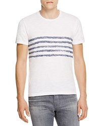 Velvet Graphic Stripe Tee White