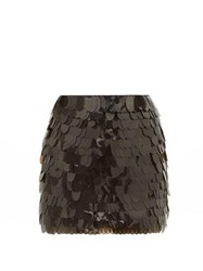 Aje Pippa Sequinned Silk Mini Skirt Black