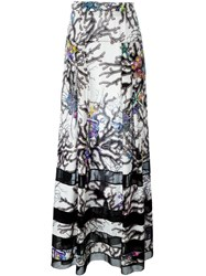 Just Cavalli Coral Print Maxi Skirt Multicolour