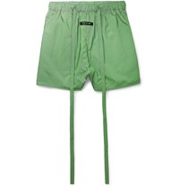 Fear Of God Wide Leg Belted Iridescent Nylon Shorts Green