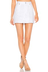 Citizens Of Humanity Cut Off Mini Skirt Distressed White