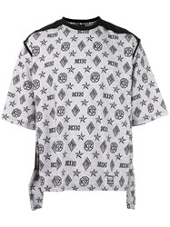 Ktz Monogram Print T Shirt White