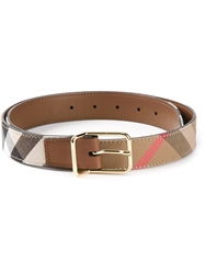 Burberry London House Check Belt Nude And Neutrals