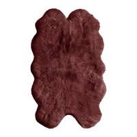Amara Sheepskin Rug Berry Red