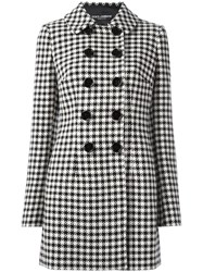 Dolce And Gabbana Houndstooth Coat Black