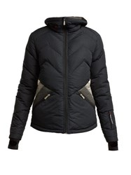 Perfect Moment Duvet Ii Quilted Ski Jacket Black Grey