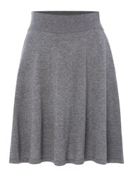 La Fee Maraboutee Short Knitted Flared Skirt Grey