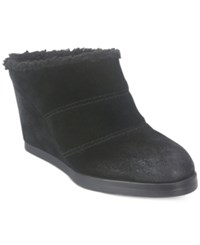 Tahari Spencer Faux Fur Lined Wedge Mules Women's Shoes