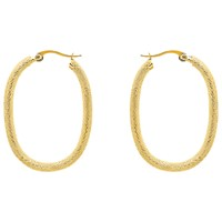 Monet Rhodium Plated Lattice Hoop Earrings Gold