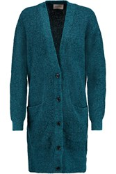 American Vintage Grizzly Bay Ribbed Stretch Knit Cardigan Blue
