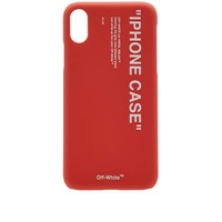 Off White Quote Iphone X Case Red