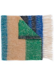 Paul Smith Ps Embroidered Logo Scarf Blue