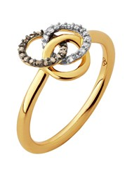 Links Of London Treasured Champagne And White Diamond Ring Rose Gold