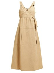 Masscob Aldama Pinafore Canvas Dress Beige