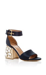 Marni Crystal Heeled Sandals Navy