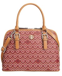 Giani Bernini Saffiano Graphic Dome Satchel Only At Macy's Wine Multi