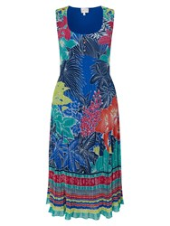 East Carina Print Pleated Dress Ocean