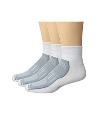 Wrightsock Endurance Quarter 3 Pack White Crew Cut Socks Shoes