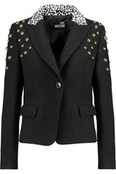 Love Moschino Stud Embellished Wool Jacket