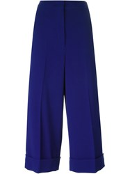 Sportmax Cropped Trousers Blue