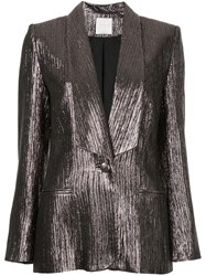 Ingie Paris Shiny Blazer Metallic