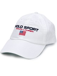 Polo Ralph Lauren Sport Embroidered Baseball Cap White